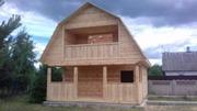 Дома из бруса Верона 6×6 установка в Лиозненском р-не