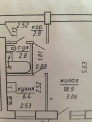 Однокомнатная квартира г. Витебск,  ул. Фрунзе дешево