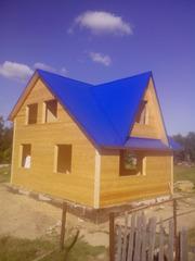 Построим каркасный Дом из бруса ,  Баню быстро и недорого