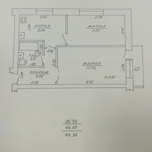 2- комнатная квартира с участком в Витебске недорого
