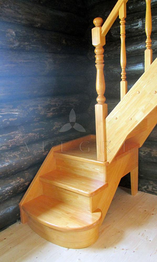Предлагаем изготовление деревянной лестницы на заказ 2
