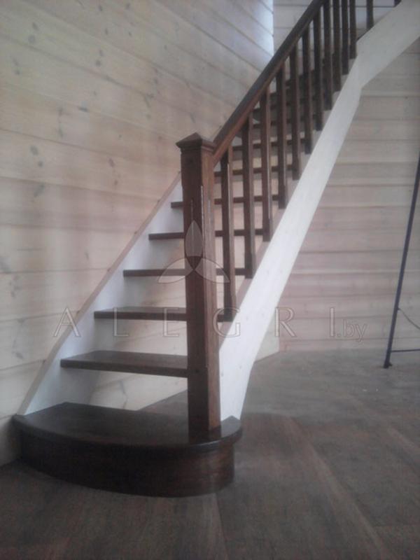 Предлагаем изготовление деревянной лестницы на заказ 4