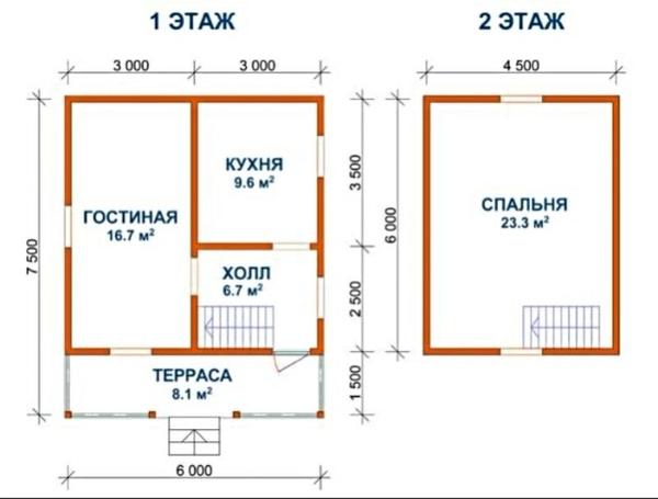 Садовый Дом 6х7 сруб из бруса установка в Витебске и р-не 3