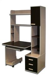 Продам шкаф,  компью-ый стол,  тумбы композиции необычной формы,  дешево